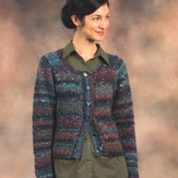 Plymouth Yarn 2168 Mushishi Woman's All Over Eyelets Lace Cardigan