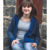 2180 Worsted Merino Superwash Teen's A-Line Open Cardigan