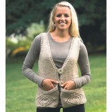 Plymouth Yarn 2228 Woman's Vest with Pockets