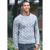 Plymouth Yarn 2278 Man's Cabled Pullover