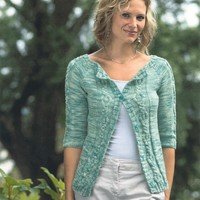 2328 Woman's Top Down Cardigan