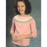 Plymouth Yarn 2393 Kids Bunny Yoke Pullover