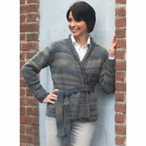 Plymouth Yarn 2424 Woman's Belted Cardigan