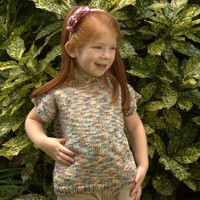 2492 Little Girl's Cap Sleeve Pullover