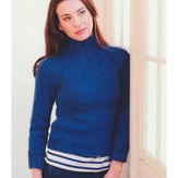Plymouth Yarn 2768 Woman's Ribbed Yoke Pullover