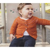 Plymouth Yarn 2859 Crochet Top Down Baby Cardigan