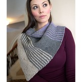 Plymouth Yarn 2880 Striped Diagonal Shawl
