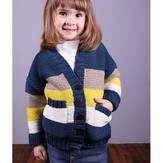 Plymouth Yarn 2989 Kid's Garter Stitch Cardigan
