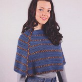 Plymouth Yarn 3016 Crochet Adult Poncho