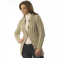 P604 Cabled Sweater Jacket
