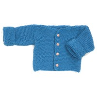 F165 Encore Easy Garter Stitch Baby Sweater (Free)
