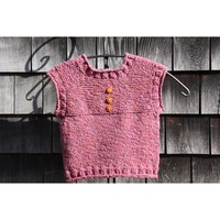Top Down Garter Stitch Vest