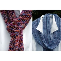 Easy Enjoyable Scarf & Pointed Lace Scarf
