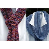 PollyMacc Designs Easy Enjoyable Scarf & Pointed Lace Scarf