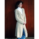 Knitting Pure & Simple 225 Neckdown Long Hooded Cardigan