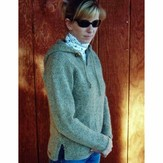 Knitting Pure & Simple 244 Neck Down Hooded Tunic For Women