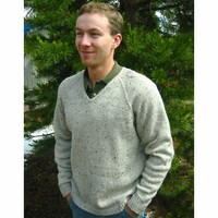 247 V Neck Down Pullover For Men