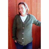 Knitting Pure & Simple 274 Top Down V-neck Maternity Sweater