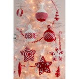 Red Heart Holiday Stars and Balls Ornaments (Free)