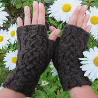 Intertwined Fingerless Mitts (Free)
