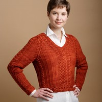 Cabled Raglan Sweater
