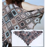 Skacel Modular Shawl with Ruffled Edges