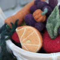 Needle Felting - Fruits and Vegetables