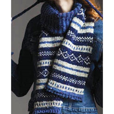 Free Knitting Fair Isle Scarf Patterns - Patterns Kid