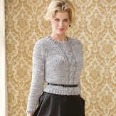 S.Charles Collezione Laurence Cropped Cable Pullover PDF