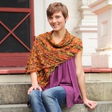 Valley Yarns 120 Falling Leaves Shawl