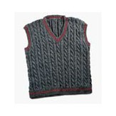 Valley Yarns 119M Daddy & Me Men's Cabled Vest (Free)