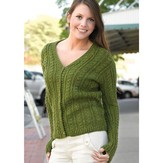 Valley Yarns 199 Green Street Cabled Cardigan