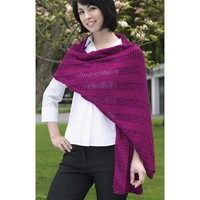 215 Diagonal Mesh Scarf And Shawl (Free)
