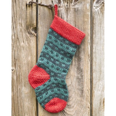 Valley Yarns 283 Spotted Christmas Stocking (Free) at WEBS Yarn.com