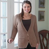 Valley Yarns 358 Fisherman's Rib Cardigan