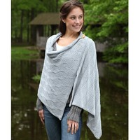 398 Beveled Silver Scarf and Wrap