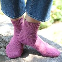 425 Cosmos Toe-Up Crocheted Socks
