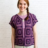 Valley Yarns WEBS DIR04 Motif Bolero by Doris Chan