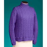 Vermont Fiber Designs 119 Cable And Rib Turtleneck