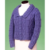 Vermont Fiber Designs 129 Cable And Rib Cardigan