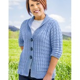 Vermont Fiber Designs 184 Tweed Rib Cardigan PDF