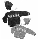 Yankee Knitter Designs 11 Child's Bunny Sweater Pullover or Cardigan