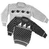 Yankee Knitter Designs 5 Child's Sailboat & Whale Sweaters